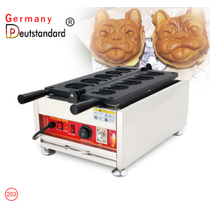 commercial animal shape dog head waffle maker