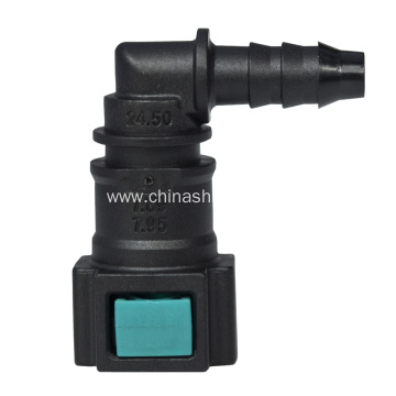 OEM/ODM Manufacturer for Sell Conductive Fittings,Conductive Quick Connector,Automotive Fuel Line Quick Connector in low price Conductive quick connector 7.89-ID6 90 degree supply to Mauritius Exporter