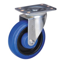 Chinese Professional for Small Size Casters With Brake 150mm swivel caster with rubber wheel supply to Nepal Supplier