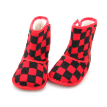 ODM for Baby Leather Boots New Style Tartan Design Plush Baby Boots supply to Germany Factory