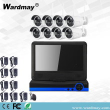 "8chs Wireless Wifi Camera Kits with 10.1"" Screen"