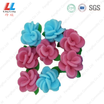 Flower smooth eco-friendly bath sponge