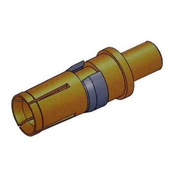 Female Coaxial D-Sub Connector Power Contact Straight