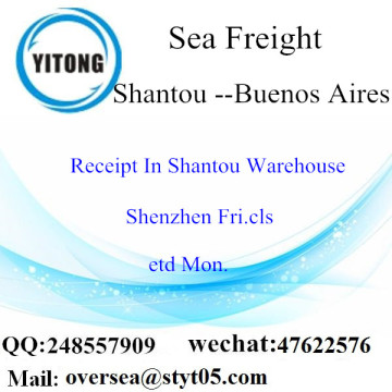 Shantou Port LCL Consolidation To Buenos Aires