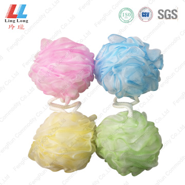 Flower mixture sponge blotting bath ball