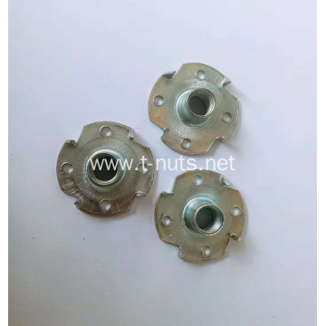 Carbon steel Fine polishing 4 holes T Nut