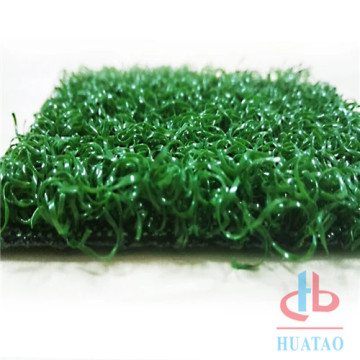 Synthetic grass mat for golf field