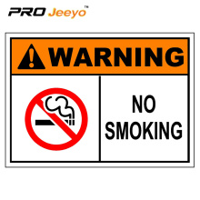 no smoking plastic plate / danger signs