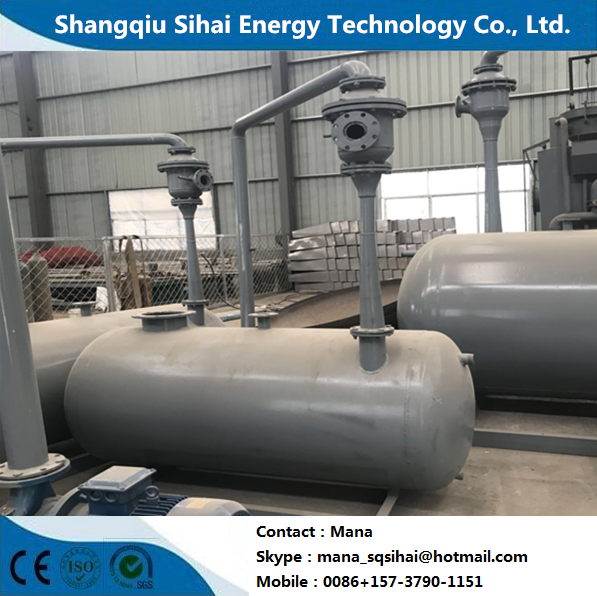Waste engine oil recycled to diesel distillation plant