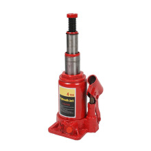 Two stage hydraulic bottle jack for car lifting