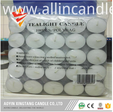 100pcs tealight candles