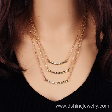 Customized for Chain Necklace Charm Three Layers Necklace Multi-Layer Chain Jewelry Wholesale export to Cyprus Factory