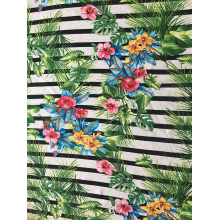 Best Quality for Rayon Challis 30S,Challis 30S Light Printing Fabric,Challis 30S Light Printing Manufacturer in China Stripe Flower Rayon Challis 30S Light Printing Fabric export to Peru Wholesale