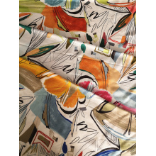 Cheap for Challis 30S Light Printing Scrawl Design Rayon Challis 30S Printing Woven Fabric export to Comoros Wholesale