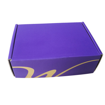 Purple Printing Gold Paper inside Corrugated Paper Box