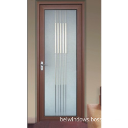 Dua Kali Ganda Architrave Aluminium Frosted Pintu Bilik Mandi Kaca Yang