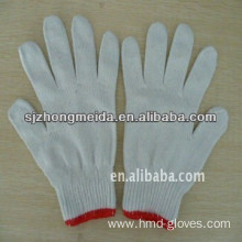 cotton knitted gloves white