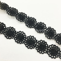 Black Water Soluble Lace Sunflower Necklace For Women