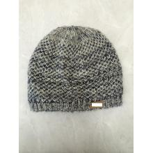 Customized for Printing Knitting Hat AB Yarns Flannel  Leather Band Knitting Hat supply to Germany Manufacturer