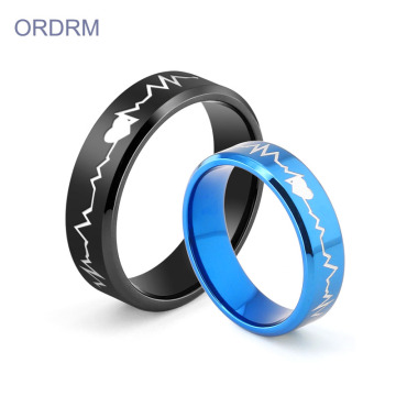 Custom Heartbeat Wedding Ring For Couples
