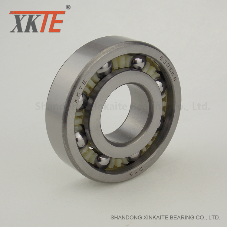 Nylon 6-6 Cage Ball Bearing For Mining Belt Conveyor Idler