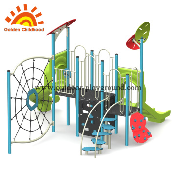 Natural Climbing Kids Outdoor Playground Equipment For Children