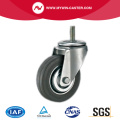Threaded Stem Grey Rubber Industrial Castor Wheel