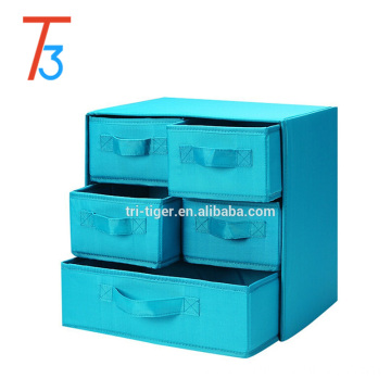 New fancy foldable fabric storage box with drawer