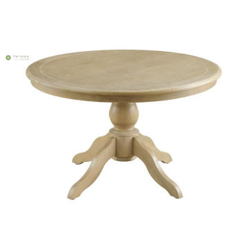 Round Full Solid Wood Dining Table