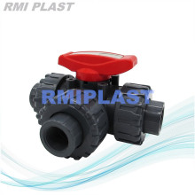 Three Way Valve PVC Screw End