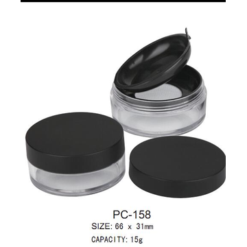 PLASTIC LOOSE POWDER CONTAINER