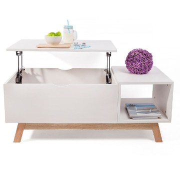 Amazon Hot Selling Clear Acrylic Adjustable Height Lift Top Coffee Table