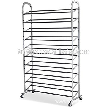 Free Rolling Shoe Rack Stainless steel Metal Shoe Rack Organizer