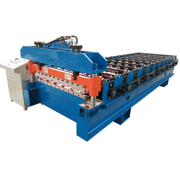 Trapezoidal roof and wall metal roll forming machine
