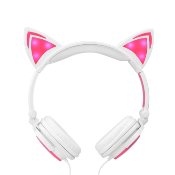 Hörlurar fabrik LED-lysande Cat Ear Headphones
