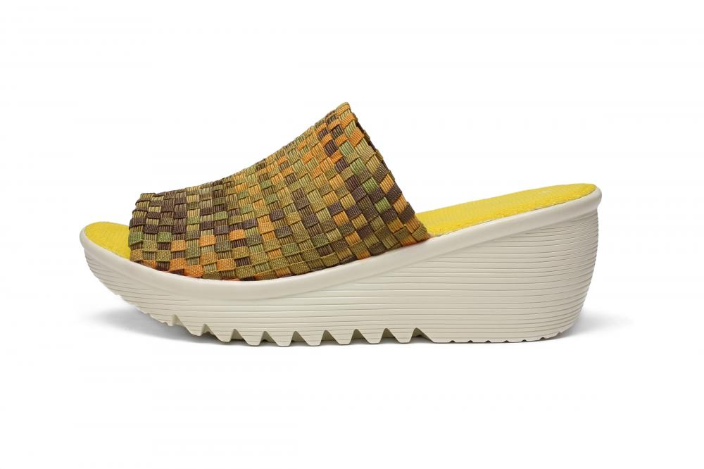 Yellow Woven Slippers
