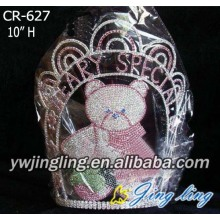 Custom Full Rhinestone Animal Bear Crowns Kids