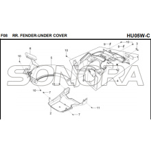 F08 RR. FENDER-UNDER COVER for HU05W-C MIO 50 Spare Part Top Quality
