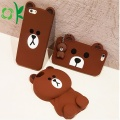 Brown Bear Design 3D Silicone Cell Phone Case