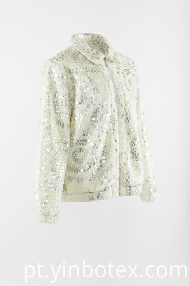 sequins fur jacket