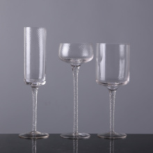 Long Stem Glass Candle Holder Set Of 3