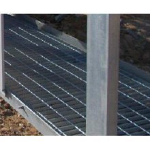 Walkway safety grating platform