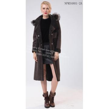 Reasonable price for New Design Fur Coat Lady  Hooded Australia Merino Shearling Fur supply to United States Manufacturer