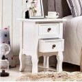 White Wooden Bedside Table Night Stand Bedroom Storage Modern Cabinet Drawer