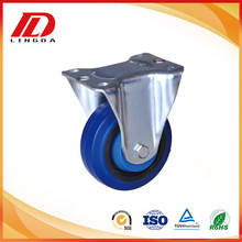 New Product for Plate Tpe Wheel Caster 6inch rigid caster with elastic rubber wheels supply to Pakistan Supplier