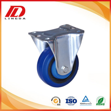 6inch rigid caster with elastic rubber wheels
