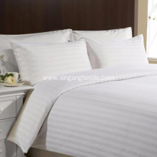 1800TC White Microfiber Stripe Duvet Cover Set