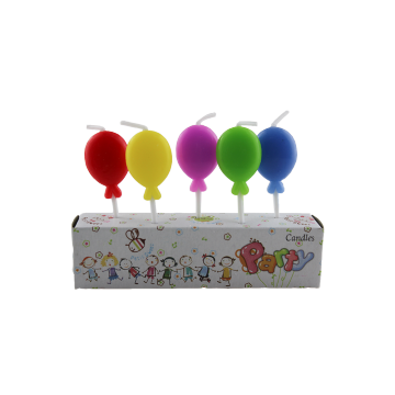 Balloon Shaped Birthday Candles - Set of 5
