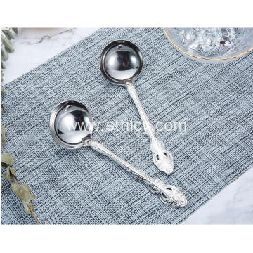 Stainless Steel Kitchen Spoon With Short Handle