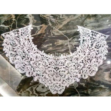 Water Soluble Cotton Embroidery Lace Collar Neckline
